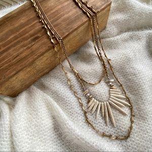 Stella & Dot Zuni Howlite Boho Tribal Necklace